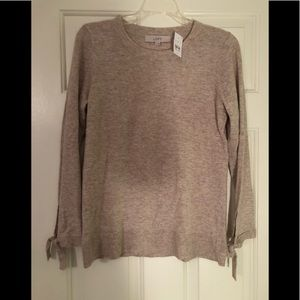 NWT Loft tie sleeve sweater